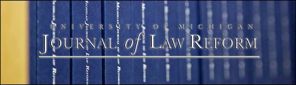 Michigan Journal of Law Reform